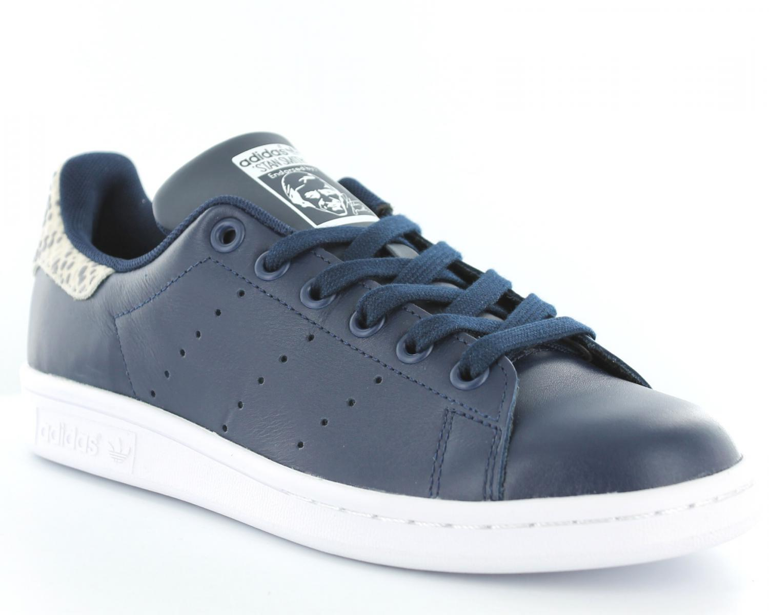 adidas stan smith scratch bleu femme