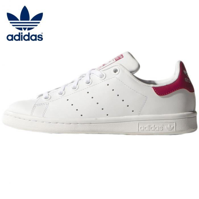 adidas stan smith rose et noire femme