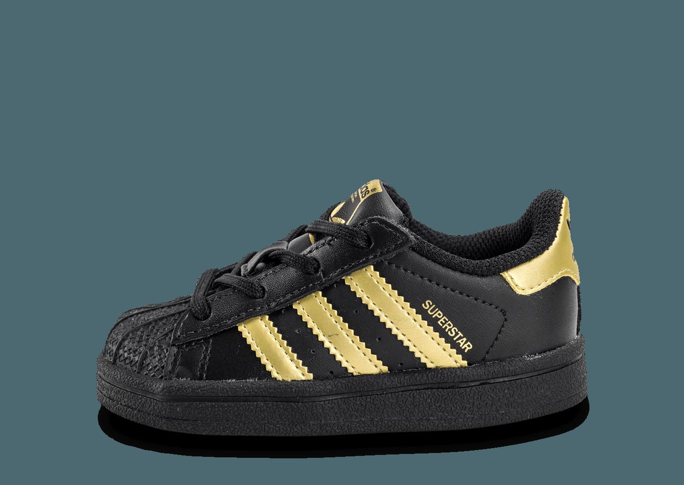 adidas superstar or et noir
