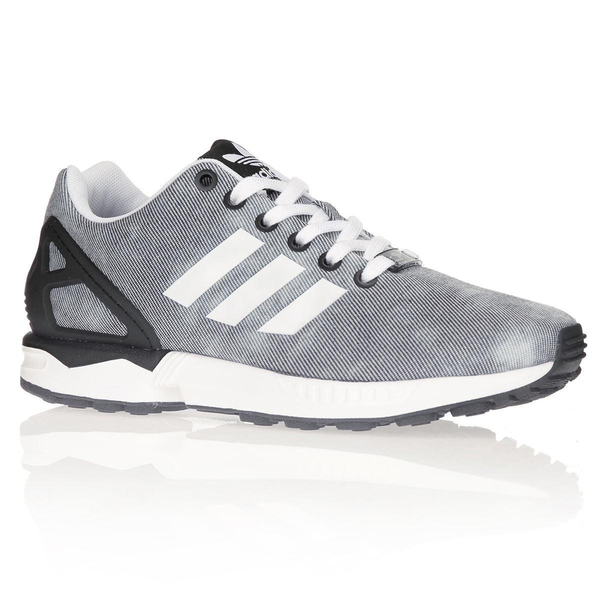 Chaussure adidas zx flux gris Achat Vente pas cher