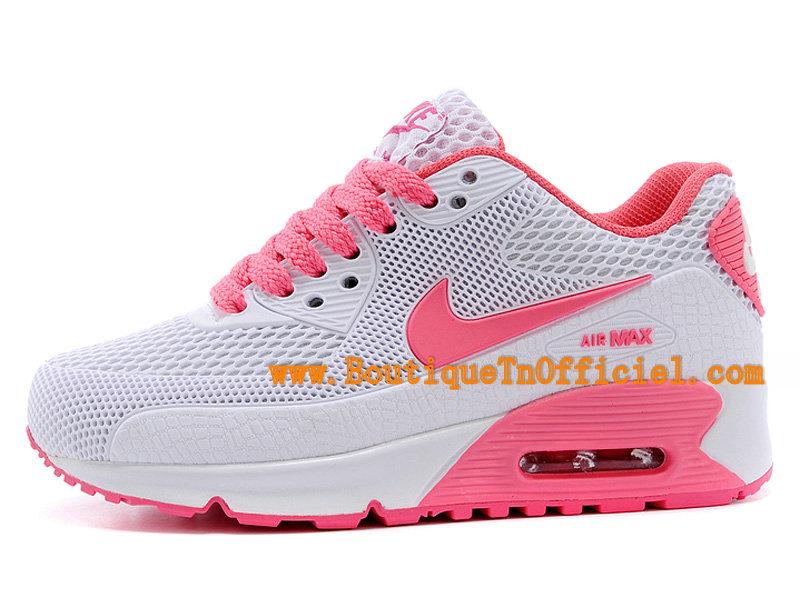 Nike Air Max 90 Sneakers Pour Fille Nike Pour Enfant RoseBlanc