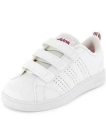Basket Adidas fille blancrose (19 23) DistriCenter